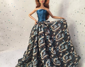 Fashion Royalty doll clothes, Barbie Doll clothes, Silkstone Barbie clothes, OOAK doll clothes, miniature couture for dolls, doll fashions