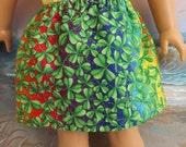 American Girl Doll Clothes St Patrick Rainbow Shamrock Skirt Elastic Waist Gently Gathered