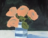 flower painting original acrylic painting flowers in vase wall art pretty flower painting original art