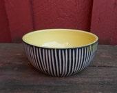 Modern porcelain Bowl YELLOW black white