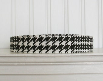 Black and White Headband - Fabric Headband - Womens Headband - Glen Plaid Headband -Adult Headband - Womens Hair Accessories
