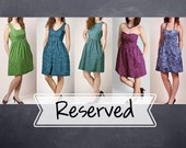 Reserved Listing- Custom Bridesmaid Dresses - V-Neck, Boatneck, Strapless, Halter Dresses with Pockets - Fabric to be provided
