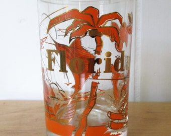 vintage Florida state souvenir juice glass orange