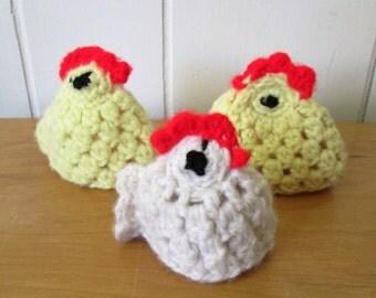 vintage crochet egg covers