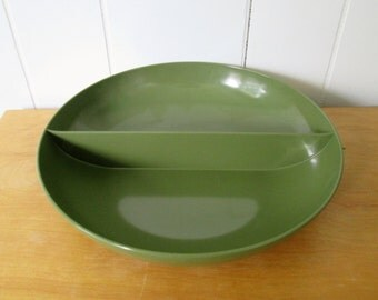 vintage melmac divided bowl Royalon