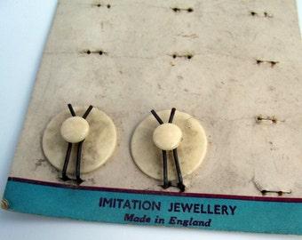 Vintage Peerless Back Studs - Pair on Sheet