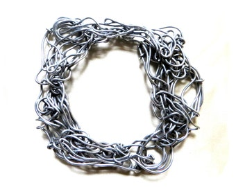 Compressed wire bracelet