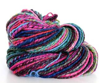 Handspun Yarn Merino Wool & Silk Navajo 3 Ply 150g 126yds