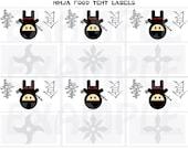 "PDF: Ninja ""Cute but Fierce"" Food Tent Label 3 3/8"" by 3 3/4"" - Food and Dessert Labels Placecards - Printable DIY"
