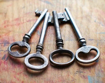 Rustic Antique Skeleton Key Bunch / Instant Collection // New Year Sale - 15% OFF - Coupon Code SAVE15