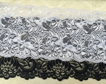STRETCH LACE TRIM Floral Pattern 2 Yards