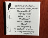 Square Poetry Magnet - Staying True To Who You Are