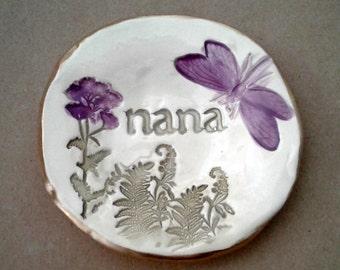 Ceramic Ring Holder Dish  NANA  Mothers day