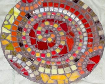 Custom Order Mosaic Spiral Plates
