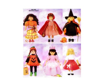 Doll Halloween Costumes Butterick 5661 Sewing Pattern Fits 18 inch Dolls UNCUT