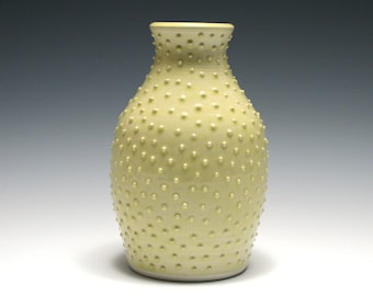 Pale Yellow Dotted Vase