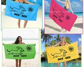 Dachshund DOX-SUN Beach Towel