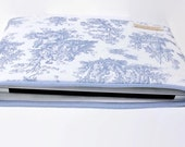 """Women's Laptop Computer Case Fit for 11""""-15"""" MacBooks, Chromebooks, 12"""" New MacBook Laptop Sleeve - Baby Blue Toile"""