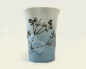 Royal Copenhagen Vase, Celeste Pinched Cup, Vintage Ellen Malmer Danish Modern Pottery, Limited 967/3874