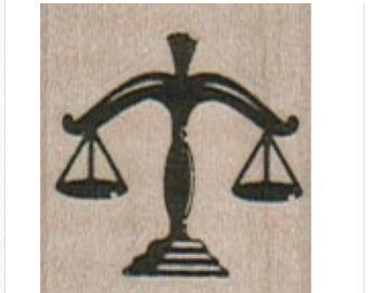 Scales Of Justice  Rubber Stamp craft supplies lawyers  14246 scrapbooking stamping 1 x 1 inch