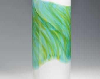 Watercolor Series Hand Blown Art Glass Vase Handmade vases by Rebecca Zhukov