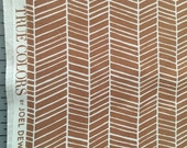 SALE Joel Dewberry Tan Nude Herringbone True Colors Collection Modern Cotton Fabric by the yard from Shereesalchemy