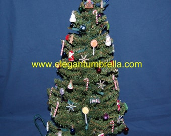 Pre-lit tabletop Christmas tree Design 11