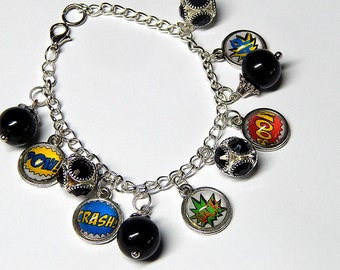 Boom Crash Pow Charm Bracelet