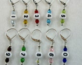 Rainbow Numbered Removable Stitch Markers -  Item No. 811