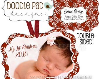 Baby's First Christmas Photo Ornament - Personalized free