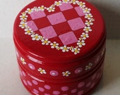 Hand Painted Love Boxes Pink Heart Box Wood