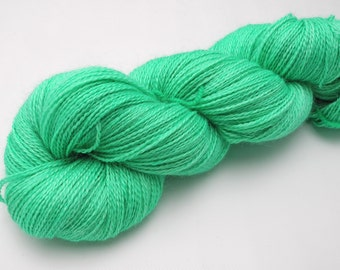Green Fairy - Hand Dyed Yarn (Dyed to Order) - Available on a variety of bases including sock yarn, sport weight, super bulky dk, worsted