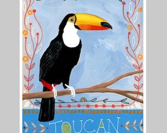 Animal Totem Print - Toucan