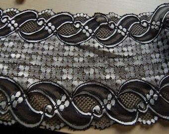 black and sliver lace
