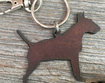 Bull Terrier Christmas Ornament or Key Ring ~ Dog Keychain ~ Pet Key Chain ~ Can be Customized