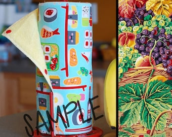 Unpaper Towel | Reusable Paper Towel - Market Basket (0366303) Tree Saver Towel | Kitchen Towel | Snapping Cloth Paperless Towel & Wet Bag