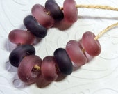 Lampwork Beads CRANBERRY MIST Two Sisters Designs 080616E