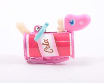 Galoob Sweet Secrets Cola Pony Transforming Key Chain ~ The Pink Room ~  SS004
