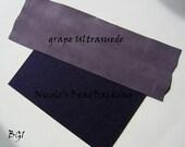 Ultrasuede with FREE Nicoles BeadBacking Great Combo for Beading Grape Purple