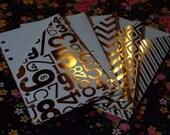 Filofax Personal Planner Pockets - Various Gold Foils