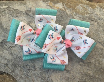 2-Layered Arrow Hair Bows-Ready to Ship