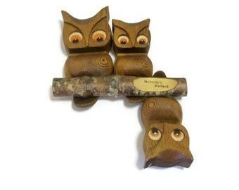 Kitschy Retro Owl Wall Hanging | Nobody's Perfect Upside Down Owl