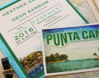 Tropical Wedding Invitation (Punta Cana, Dominican Republic) - Design Fee