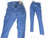 "Sz 6 90s GAP High Waisted Classic Fit Mom Jeans - Vintage Relaxed Fit Dark Stone Wash Rinse Women's Ankle Jeans - 27"" Waist"