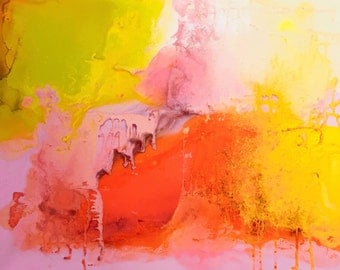 Sweet Cheeks 20 x 24 inch abstract spray paint painting