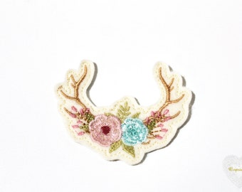 ITH In Feltie Clips Boho Flower Antlers Hair Accessories Machine Embroidery File design