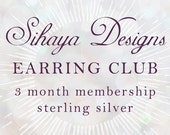 Sihaya Designs Earring Club 2016: 3 Months in Mixed Metals - Earring Subscription Service