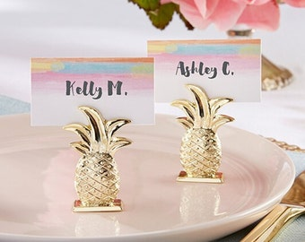 Gold Pineapple Place Card Holders-Set of 6