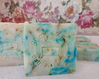 4 oz Goat Milk Shea & Cocoa Bar Soap-Waterlily and Jasmine