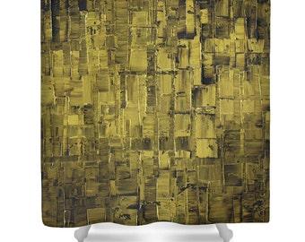 Olive Green Shower Curtain- shower curtain art